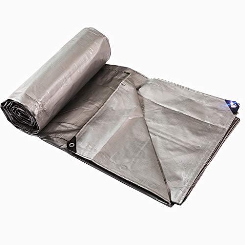 Plane Xin Verdicken Regenfestes Tuch Plastiktuch Regenplane Sonnenschutzmittel Autoplane Farbstreifen Silber 220G / M2 (größe : 2M*2M)