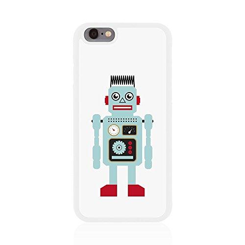 Apple iPhone 6/6s Retro robot brillant Coque arrière par Call Candy bleu