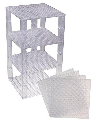 Piastre Premium Clear Base impilabile - 4 Pack 15,25 cm x 15,25 centimetri Baseplate bundle (Mini Natale Piastra)