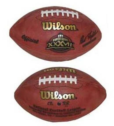 Super Bowl XXXVII Official Game Football by Wilson - Tampa Bay Buccaneers vs. Oakland Raiders by Wilson