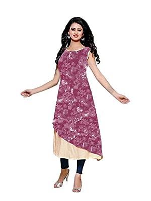 Kurti (J B Fashion Women's Clothing Kurti for New Colllection Kurti (68-BYOZ-MAZ5)) - Pink Size : XL only