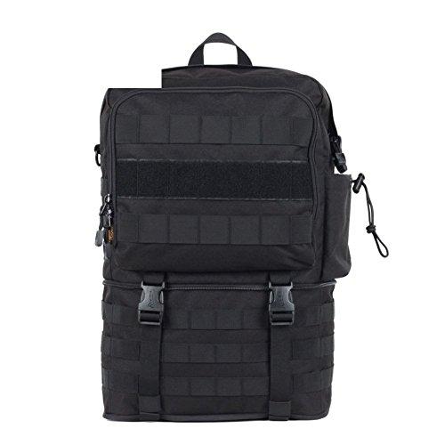 Sincere® Forfait / Sacs à dos / ventilateurs portables / Armée Ultraléger tactique Camping / simple sac à bandoulière sports de plein air d'extension noire 30L