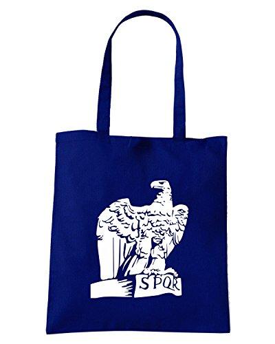 T-Shirtshock - Borsa Shopping TUM0036 ultras lazio ssl spqr eagle Blu Navy