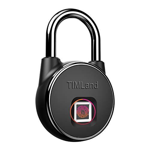 Candado de huella dactilar, IP66, resistente al agua, con cerradura de seguridad sin llave, USB, con detección de dedos, antirrobo, para puerta de casa, mochila, maleta de viaje, bicicleta, etc.