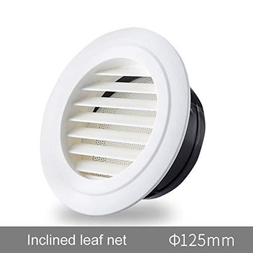 Wnuanjun, 100 MM Luftverteiler mit ABS-Material, Luftauslass für Belüftungsrohr, Rauchrohr, Abgasrohr, Luftaustauschrohrende (Color : Inclined leaf net) -