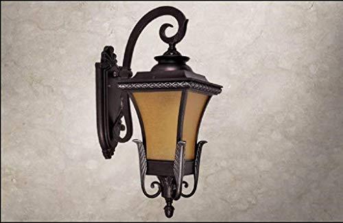 JJLL Led Außenwandleuchten Bronze Außenwand Laterne wasserdichte Veranda Lichter Wandhalterung for Haus, UL Zertifizierung - Ul 123