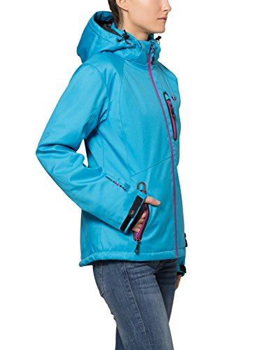 Ultrasport Veste d'extérieur alpine fonctionnelle Softshell Serfaus pour femme avec Ultraflow 10.000 Vin Bleu/Violet Vivid