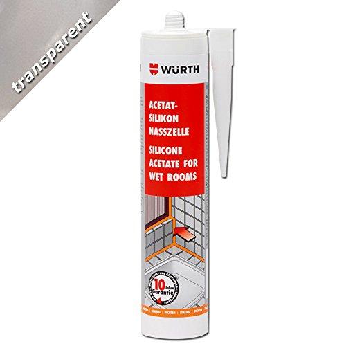Würth cartuccia di acetato di silicone per sanitari 310 ml colore trasparente