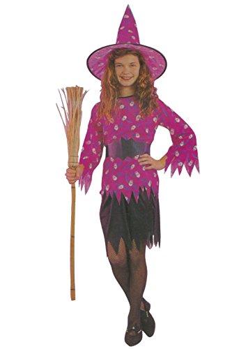 Kinder Mädchen Hagatha die Hexe Kostüme Alter 4-12 Jahre (Large (Age 10-12 Years), Schwarz)