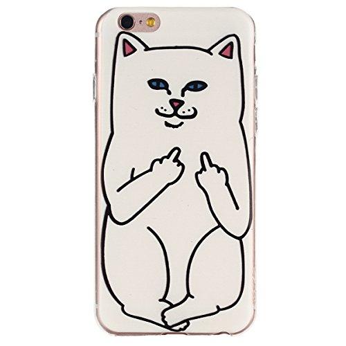 Voguecase® Per Apple iPhone 5 5G 5S, Custodia Silicone Morbido Flessibile TPU Custodia Case Cover Protettivo Skin Caso (Pinguino con palloncini) Con Stilo Penna bianco gatti 01
