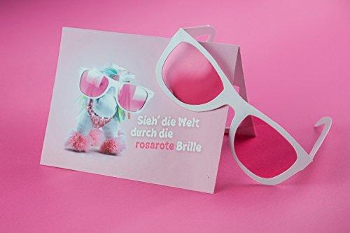 Einhorn / Unicorrn Geburtstagskarte mit Rosa Brille :-) I Einhorn, Rosa I Glückwunschkarte I Karte zum Geburtstag, Happy Birthday Karte, lustig, witzig, cool, - Einhorn-karten