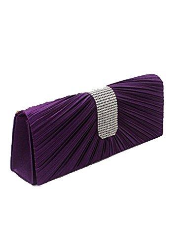 Dayan die neue Fold Glas Segmenthöhe Abendtasche Bankett Tasche Hochzeit, violett (violett) - bb0104-52 violett