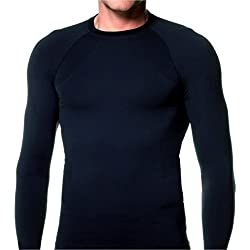 KD Willmax Compression Top Full Sleeve Plain Black Small