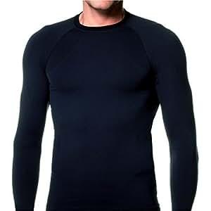 KD Willmax Men's Full Sleeve Athletic Fit Multipurpose Inner Wear (Small, Black)