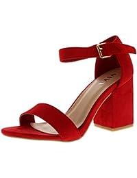 SUNAVY - Tobillo bajo Mujer , color rojo, talla 38 EU / 5 UK