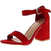 GLAMZ - sandalias para mujer mujer , color rojo, talla 36.5