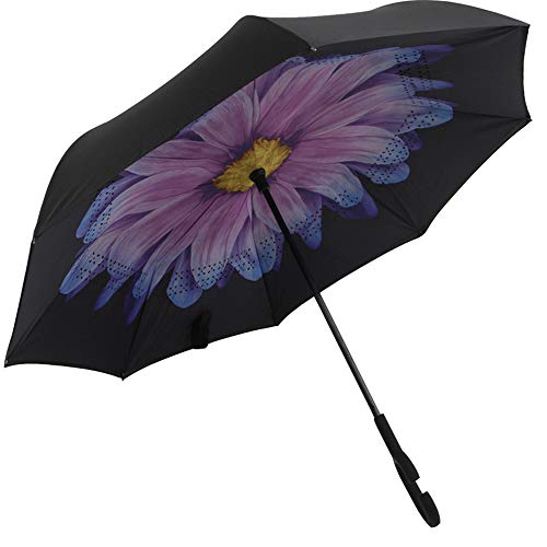 Regenschirm Taschenschirm Automatikschirm Winddicht kompakt und leicht und stabil,Regenschirm auf der Rückseite des Regenschirms, Nicht Nasser Regenschirm, Winddichte Farbe27 95cm