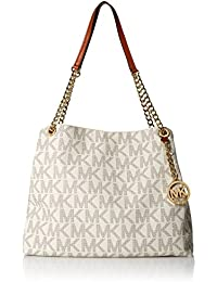 Michael Kors Jet Set Chain Item Large Shoulder Tote Handbag - Vanilla