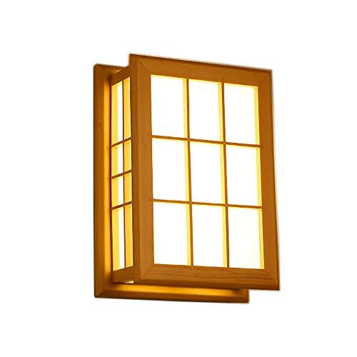 Iluminación de Pared Sólida Pared de Madera de la lámpara de Estilo japonés/Europa del Norte LED...