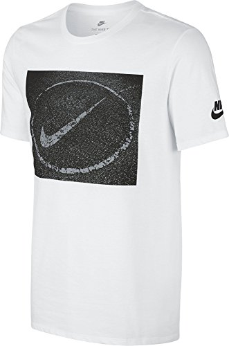 Nike M Nsw Tee Asphalt Photo T-shirt für Herren Weiß (White / Black)