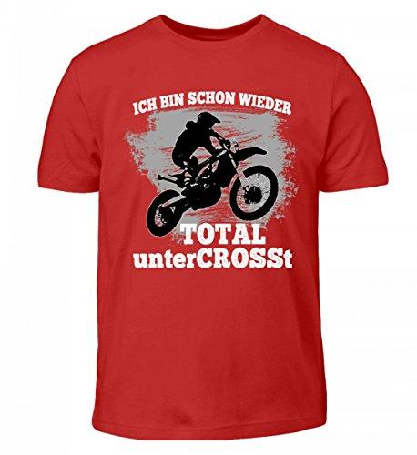 Hochwertiges Kinder T-Shirt - Motocross Shirt · Dirtbike · Geschenk für Enduro Fahrer · Spruch: Total untercrosst