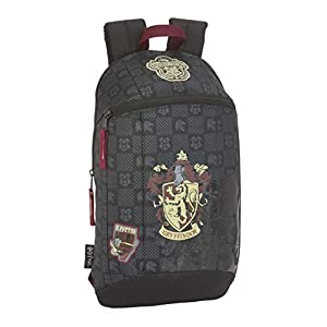 41QJhyF1AwL. SS300  - Harry Potter Gryffindor Mochila Tipo Casual, Senderismo, Negro