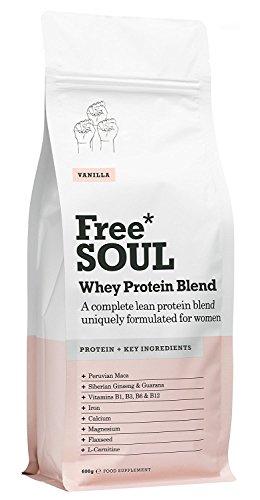 Free Soul Whey Protein/Molke Protein Pulver - Speziell für Frauen - unterstützt Hormonspiegel, Laune und Energie - Glutenfrei und Sojafrei - Vanille (600g) (B-komplex-vitamine Lebensmittel-wissenschaft)