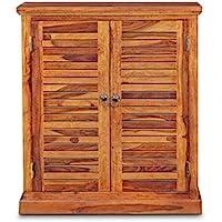 MH Decoart Sheesham Wood Shoe Cabinet with 2 Door for Home Hall Living Room Bedroom Wooden Shoe Rack Storage Entrance…