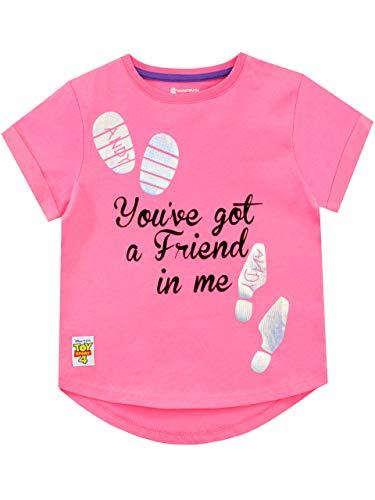 Disney Mädchen Toy Story T-Shirt Rosa 104 (Mädchen Story Zeichen Toy)