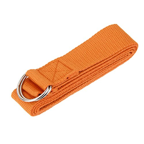 180cm Sangle Yoga Formation Exercice Fitness - Orange