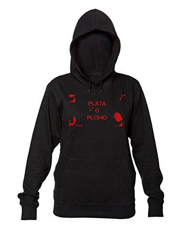 bloody-plata-o-plomo-artwork-womens-hooded-sweatshirt-extra-large