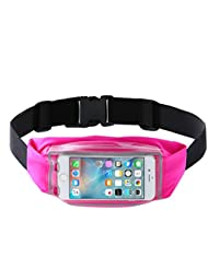 TeyxoCo Cycling Running Belt Pack Fanny Pack Finger Touch Waist Pack
