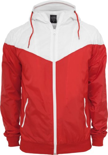 Urban Classics Arrow Men'TB148 Runner s Wind Jacket Rot - Red/Wht