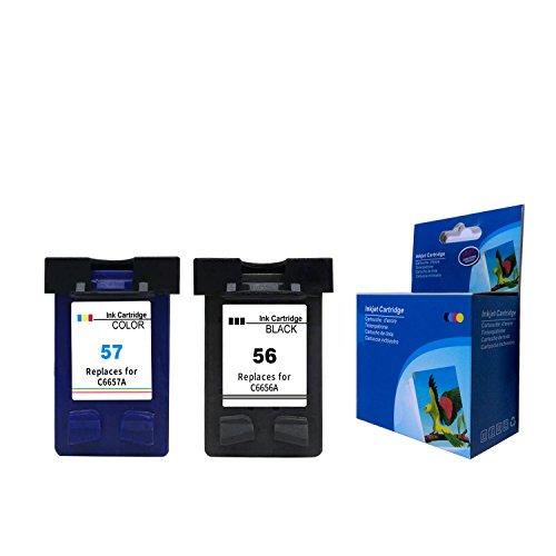 2er Set Kompatible Tintenpatronen als Ersatz für HP 56 XL + HP...
