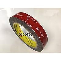 3M VHB 59523metros (19mm x 3m), color negro, adhesivo de alto rendimiento de doble cara, para Soldados Potentes conexiones en interiores y exteriores.