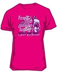 Scitec Wear - Camiseta de Chica Feel the power baby - M-Mediana, Rosa Pink