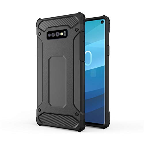 Forhouse Hülle Durable Protective Case Hülle, Thin Anti-Scratch Skin Back Hülle Full Cover für Samsung Galaxy S10 Lite - Black