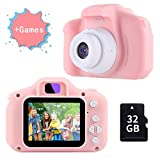 TekHome 2019 New Kids Digital Camera for Girls with Game, Pink Childrens Camera