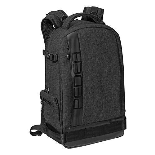 PEDEA DSLR-Kamerarucksack 'Fashion' Fotorucksack für Spiegelreflexkameras mit wasserdichtem Regenschutz und variabler Inneneinteilung, schwarz