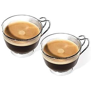 Promobo -Coffret Set Duo Lot Deux Tasses à Café Expresso Mug Vintage Avec Anse Métal
