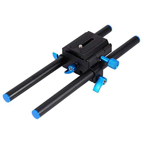 Topiky Universal Aluminium Alloy 15mm Schiene Rod Support System Baseplate Mount mit 1/4