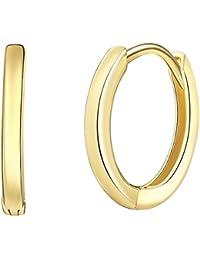 Rafaela Donata - Aros con cierre - 925 Plata esterlina (chapada en oro amarillo), Pendientes, Pendientes de Plata esterlina, Joyería de plata - 60903088
