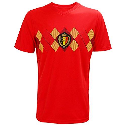 SODIAL Weltcup Maenner Sportswear Fussball Belgien Shirt Breathable Kurzarm Shirt Trikots Uniformen Paar Fussball Kit Shirt Trainingsanzug (Maenner, M)