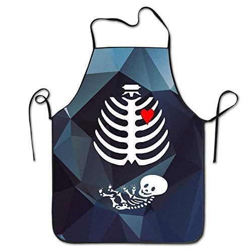 LarissaHi Halloween Mutterschaft Schwangerschaft Xray Restaurant Schürze einstellbare komfortable Standardgröße