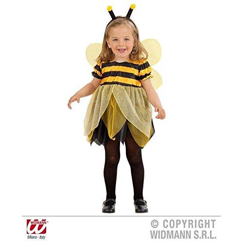 Super Kostüm Süße - Super süßes gelb-schwarzes Bienen / Bee - Kostüm für Kinder ( Kleid und Flügel ) Gr. 104 cm ( 2 - 3 Jahre )