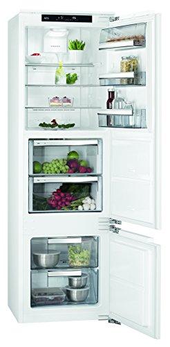 AEG SCE81826ZC Einbau Kühl-Gefrier-Kombination mit doppeltem Gefrierteil unten / 112 l Kühlschrank / 70 l 0 °C-Kaltraum / 51 l Gefrierschrank / Einbaukühlschrank + Gefrierfach / A++ / H: 178 cm / weiß