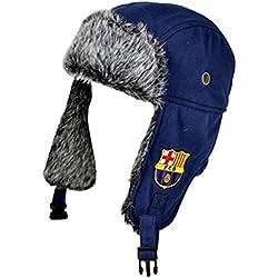 Gorra de invierno con escudo oficial del FC Barcelona, Unisex, Trapper, multicolor, n/a