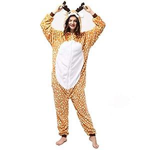 Katara- Pijamas Enteros Diferentes Animales y Tamaños, Adultos Unisex, Color Ciervo marrón, Talla 175-185cm (1744)