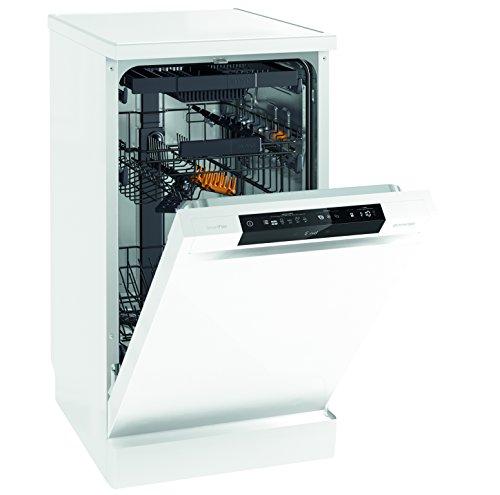 GORENJE gs54110W autonome 10places A + + Spülmaschine-Geschirrspülmaschinen (autonome, weiß, Slimline (45cm), schwarz, weiß, Knöpfe, Edelstahl)