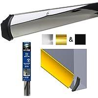 Deflector de agua de lluvia - 914mm barra del goteo tiempo plata (aluminio pulido) + tapas